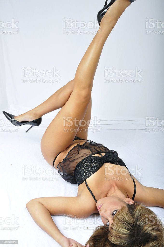 Legs in Lingerie royalty-free stock photo