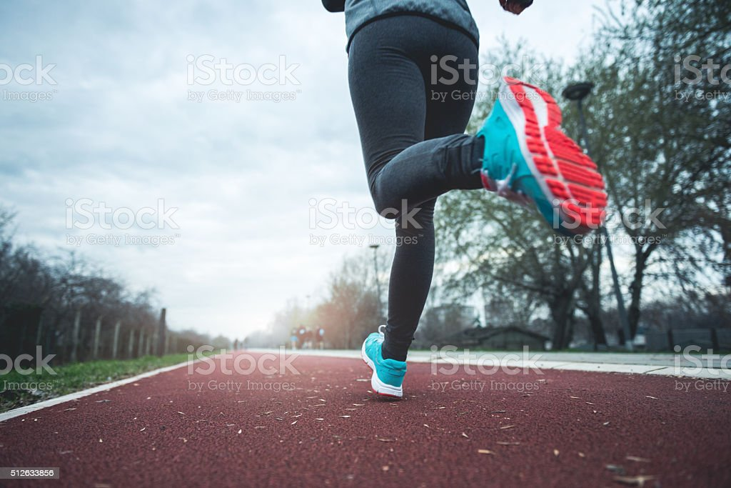 Legs in motion stock photo