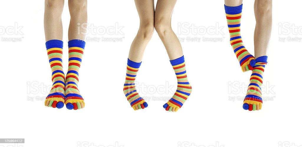 Legs in socks stock photo