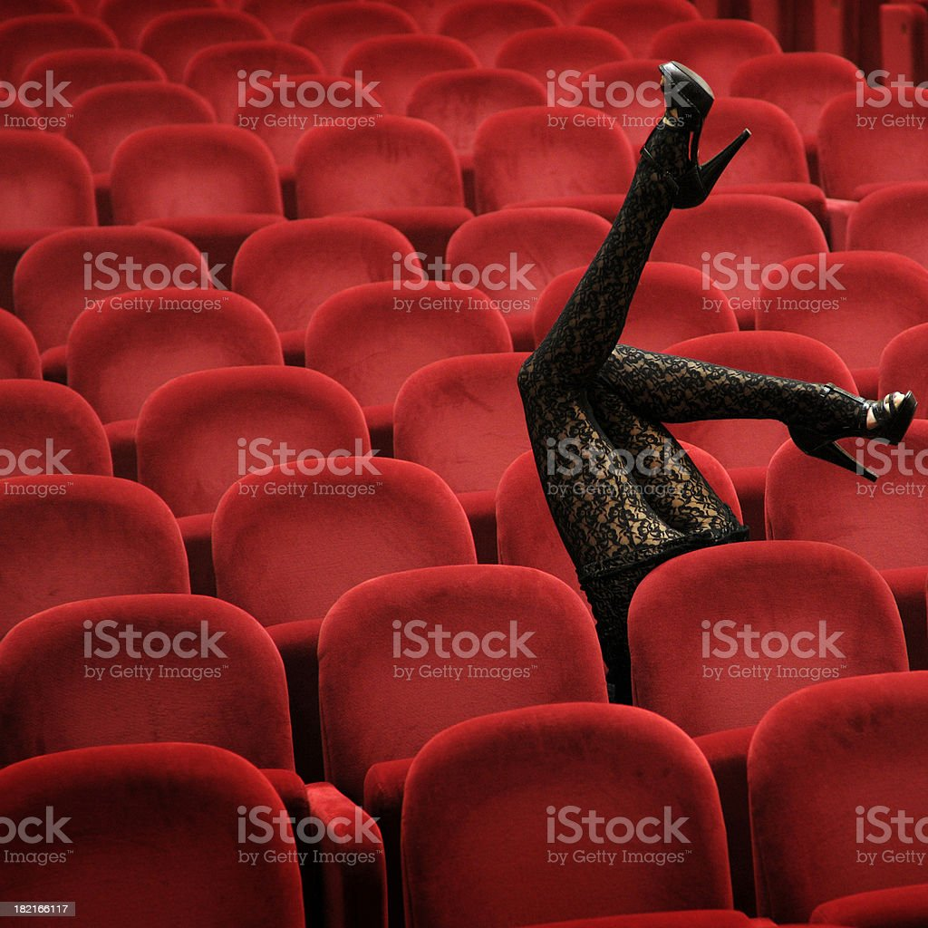 Legs In The Air royalty-free stock photo