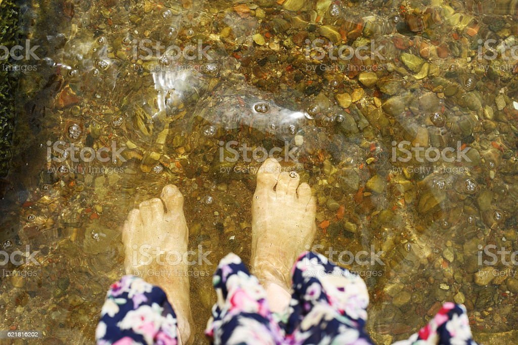 legs in the lake royalty-free stock photo