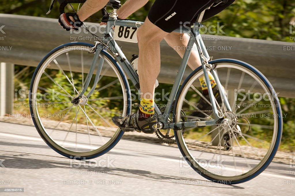 Legs of a Competing Cyclist stock photo