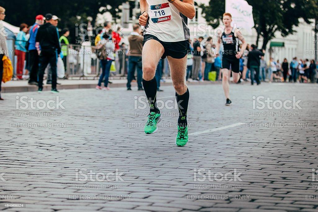 레그스 있는 marathon runner royalty-free 스톡 사진