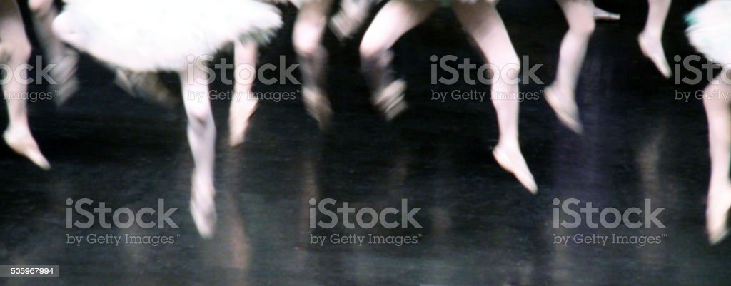 Legs Of Ballet Dance Action stock photo