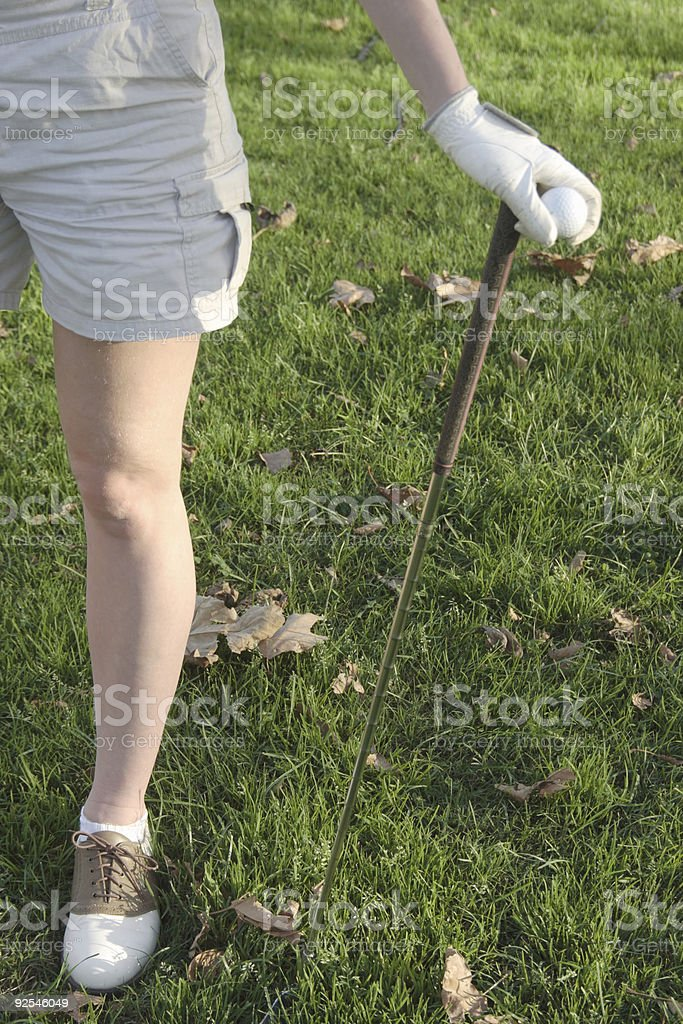 Legs of Lady golfer royalty-free stock photo