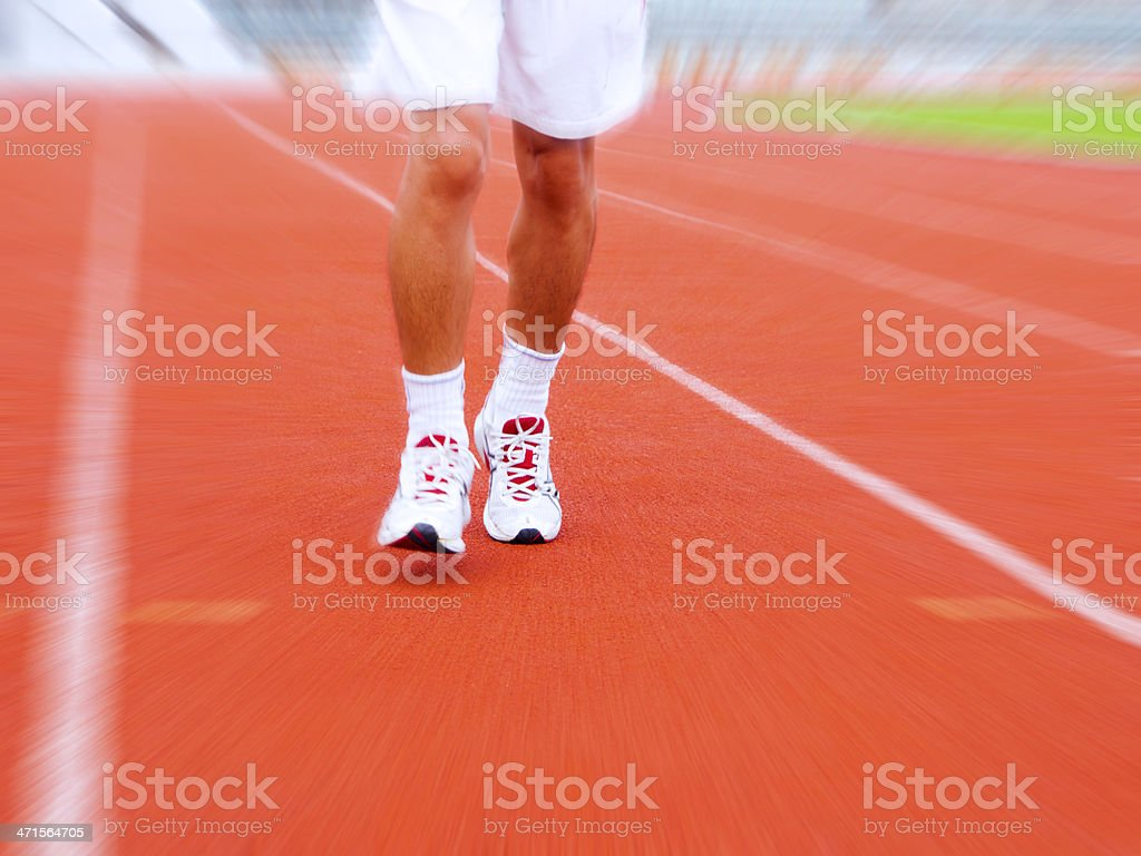 legs of runner during a marathon royalty-free stock photo
