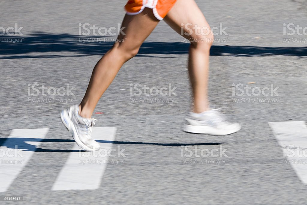 Legs of runner royalty-free stock photo