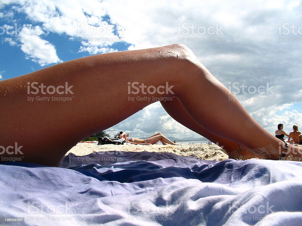 Legs on the Beach royalty-free stock photo