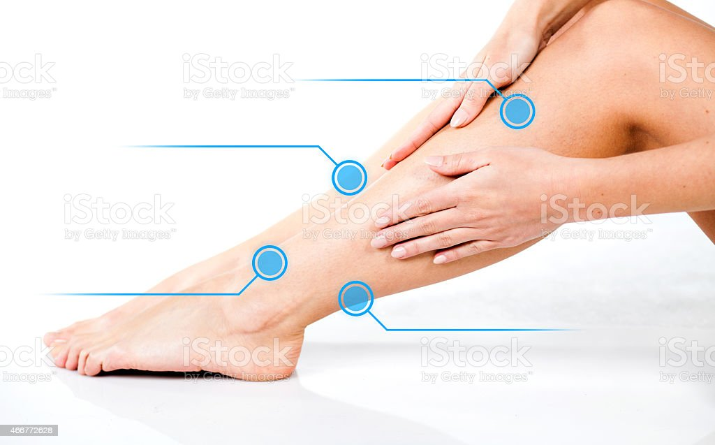 Legs skin care, infographic arrows stock photo
