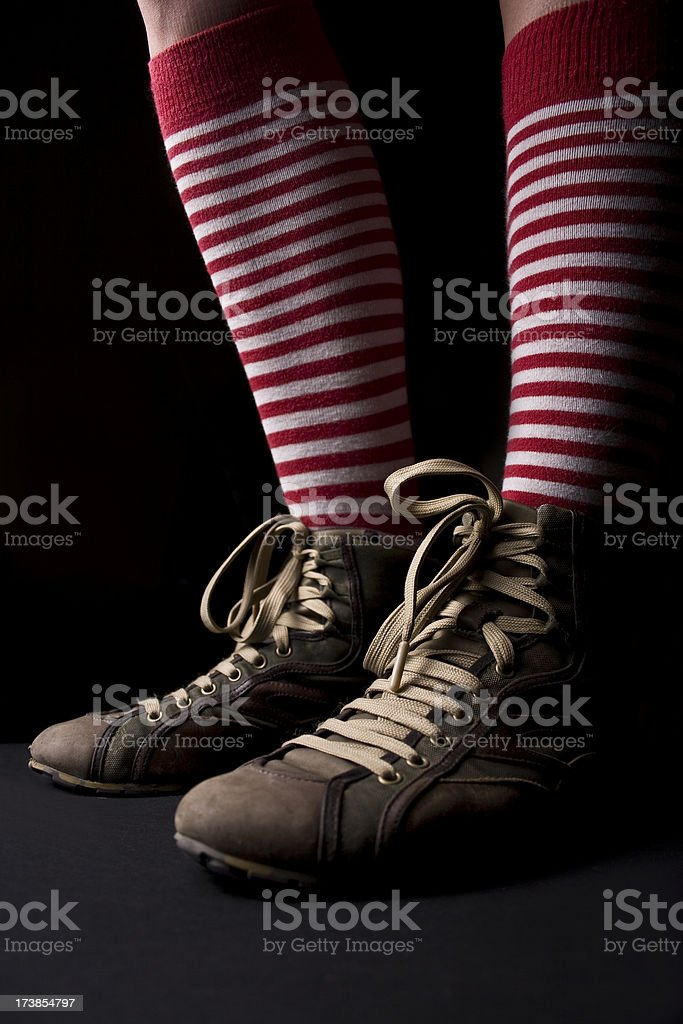 legs with stripes royalty-free stock photo