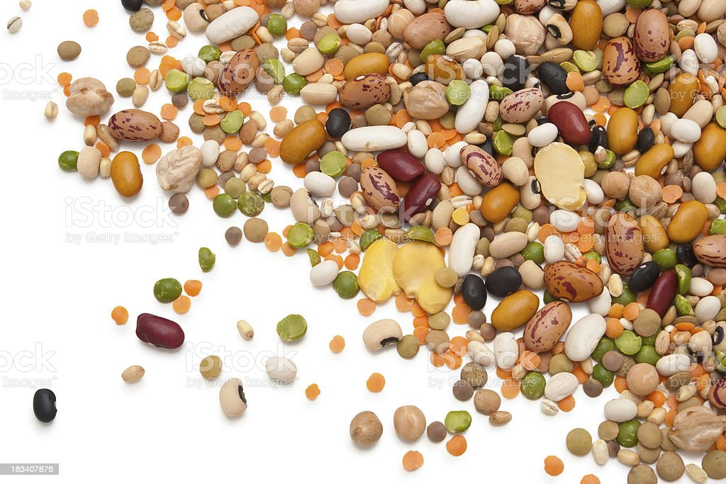 Legumes and Cereals. royalty-free stock photo