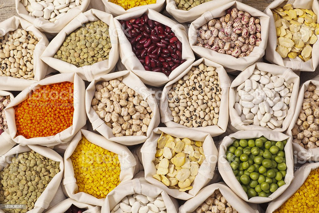 Leguminous Seeds Collection royalty-free stock photo