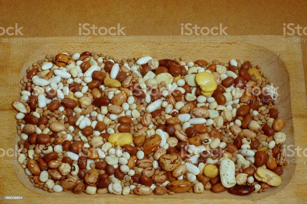 Leguminous Seeds Collection stock photo