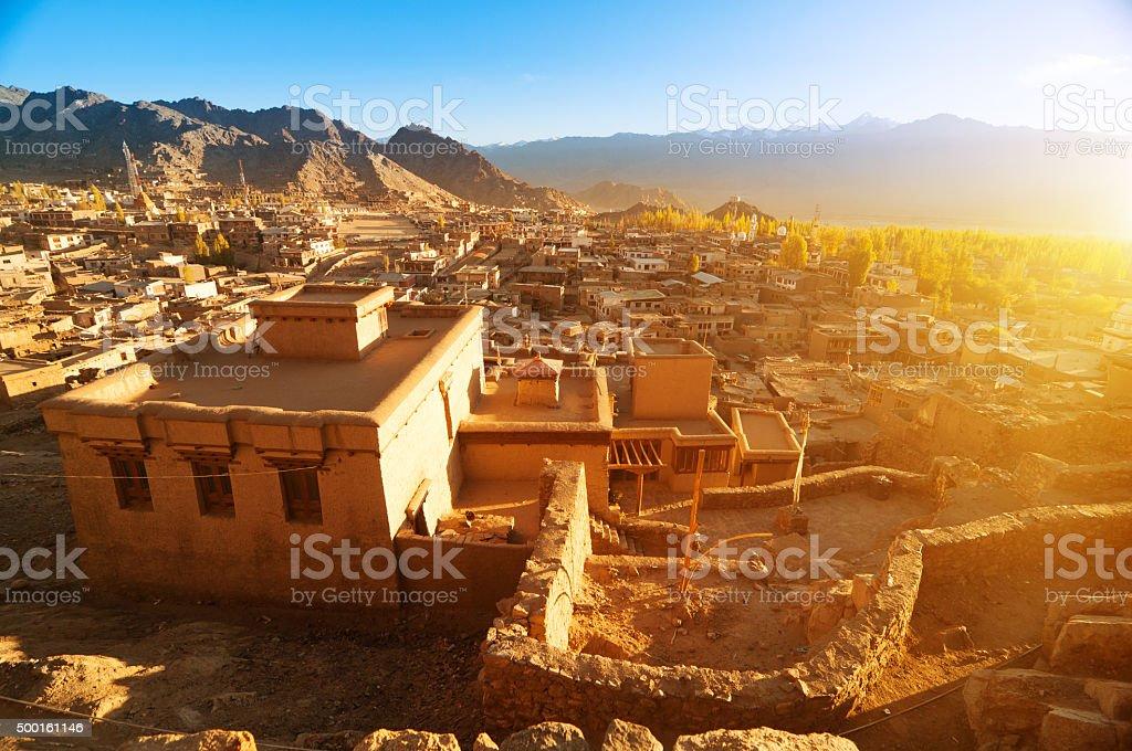 Leh city Ladakh India stock photo