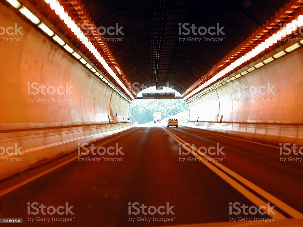 lehigh tunnel royalty-free stock photo