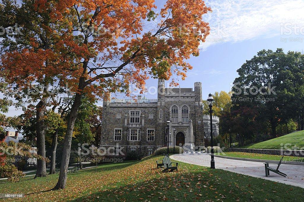 Lehigh University in Autumn stock photo