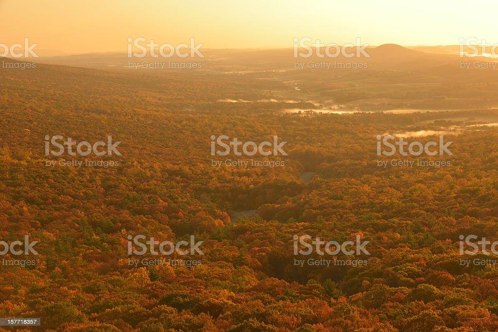Lehigh Valley Sunrise royalty-free stock photo
