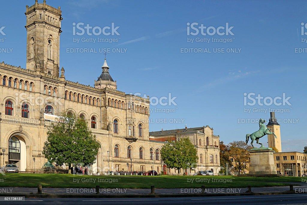 Leibniz University in Hannover stock photo