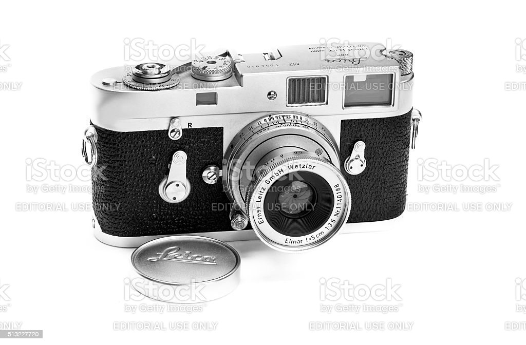Leica classic vintage M2 film camera 1962 lens extended stock photo