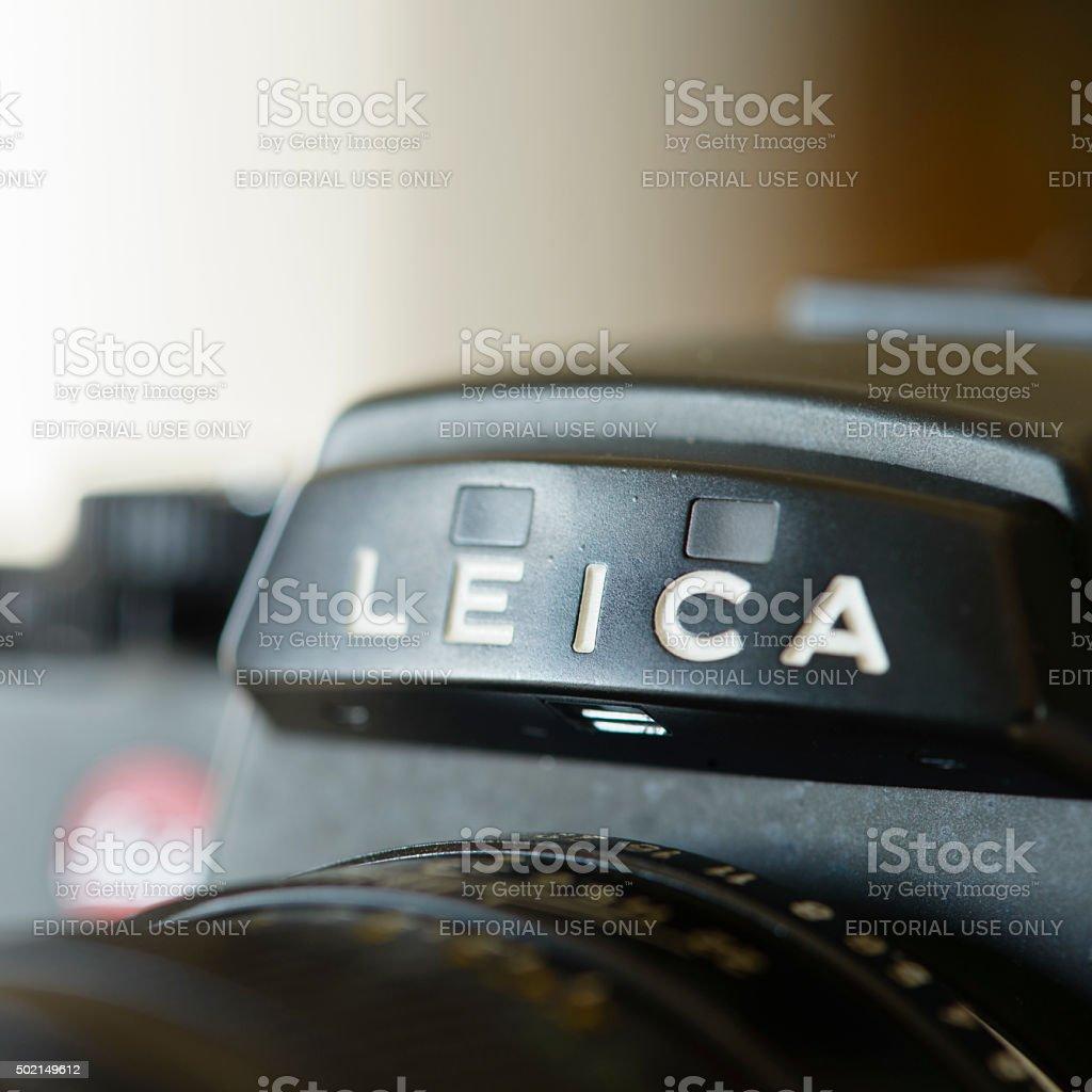 Leica R4 Single-Lens Reflex Film Camera stock photo