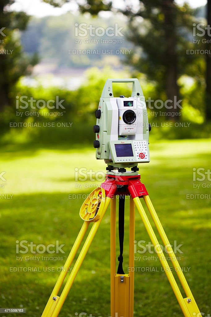Leica Total Station royalty-free stock photo