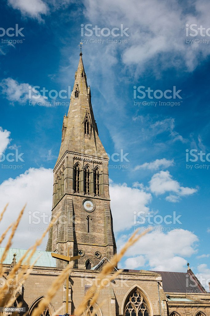 Leicester Cathedral stock photo