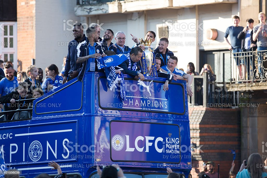 Leicester city Parade stock photo