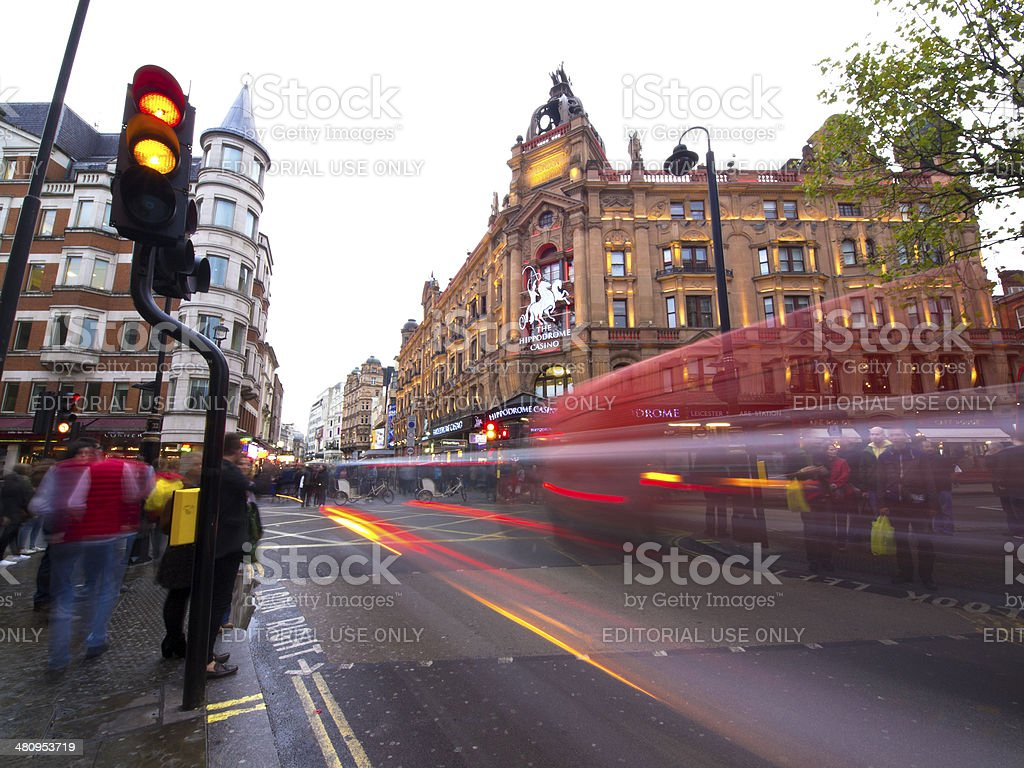 Leicester Square red light stock photo
