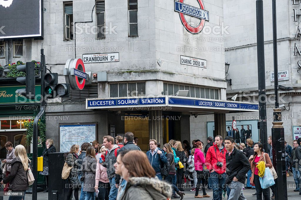 Leicester Square Tube Station, London stock photo