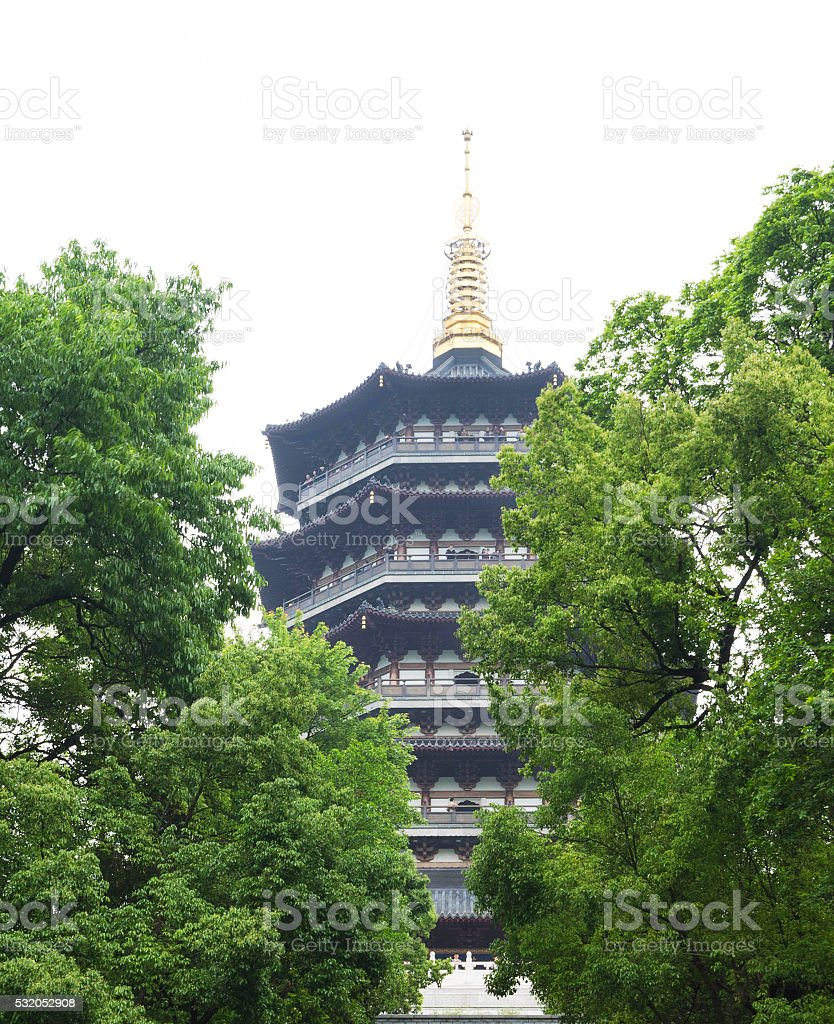 Leifeng Pagoda stock photo