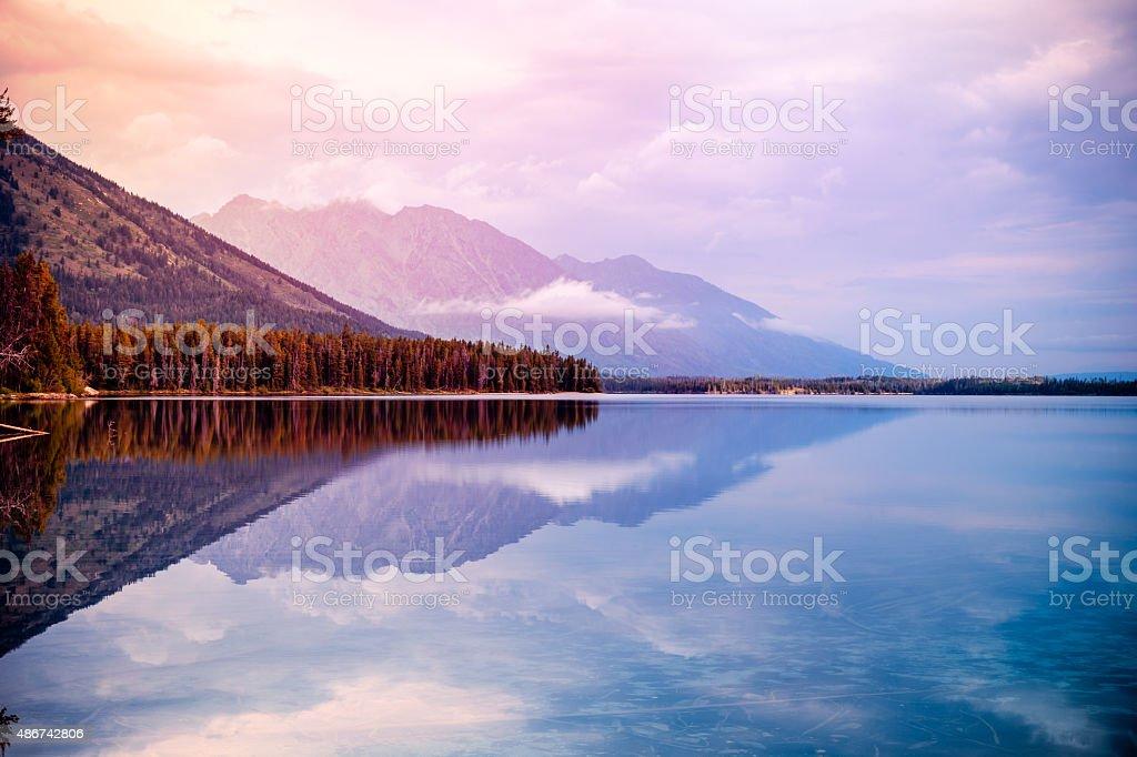 Leigh Lake stock photo