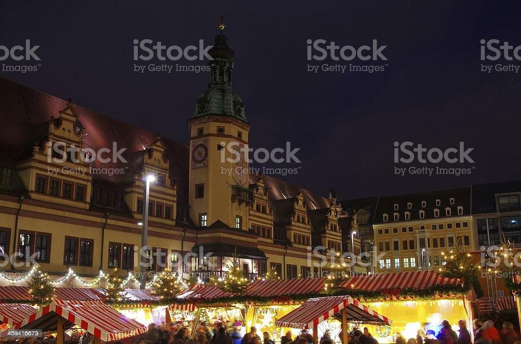 Leipzig christmas market stock photo
