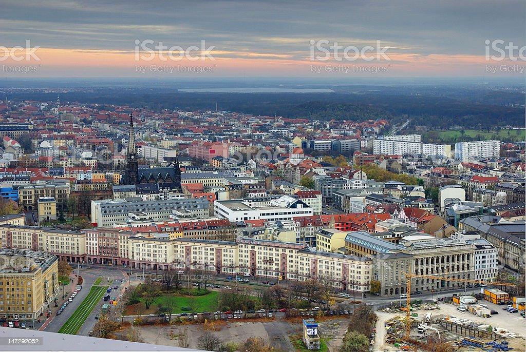 Leipzig City Architektur DRI Foto stock photo