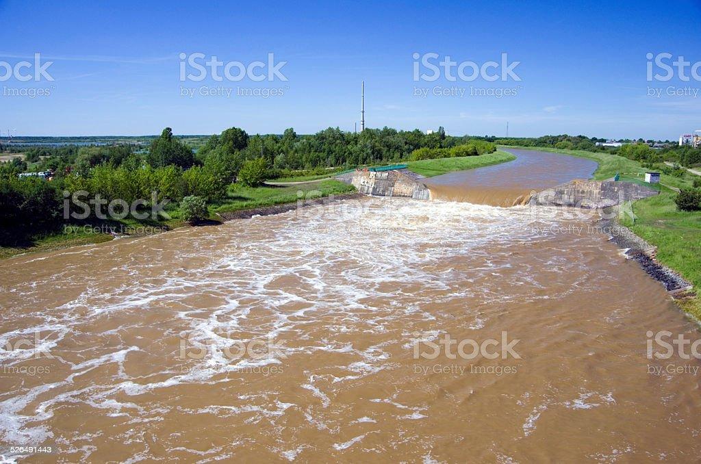 Leipzig Elster Hochwasser stock photo