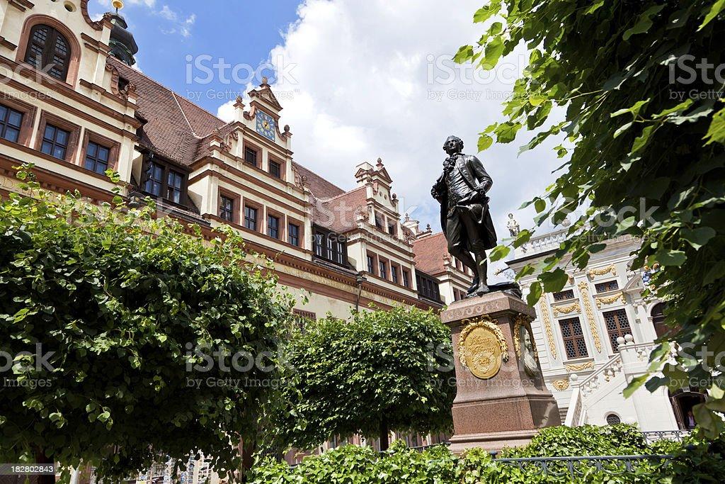 Leipzig, Goethe Monument royalty-free stock photo
