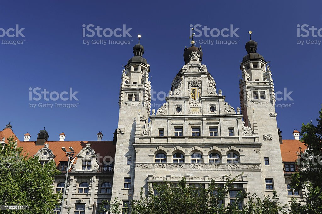 Leipzig New City Hall Front Part Summer royalty-free stock photo