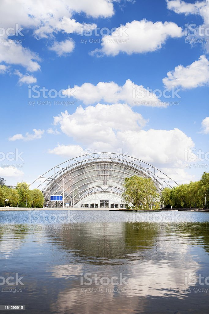 Leipzig, Trade Fair (Neue Messe) stock photo