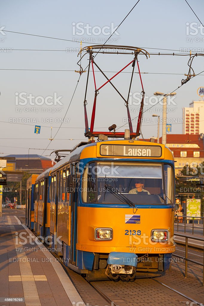 Leipzig Tram royalty-free stock photo
