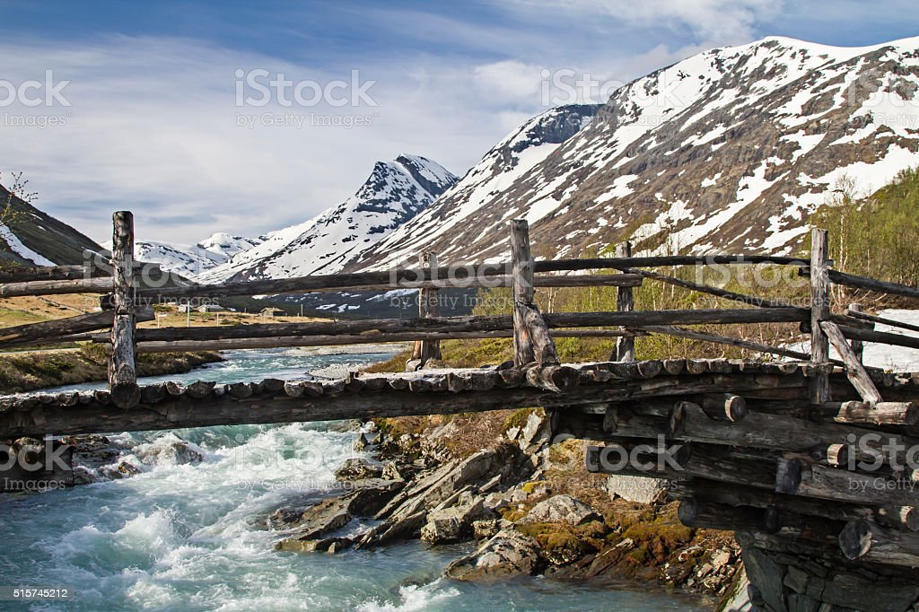 Leirdalen valley stock photo