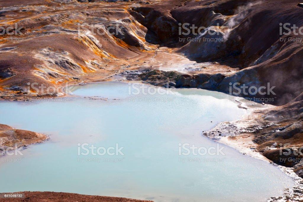 Leirhnjukur mud pots stock photo