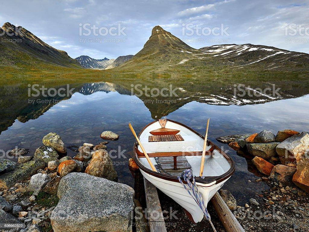 Leirvassbu, Jotunheimen National Park, Norway, nature stock photo