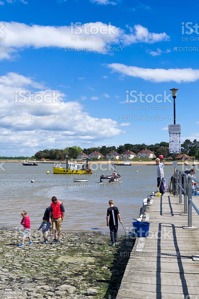 Leisure activities on the River Deben stock photo