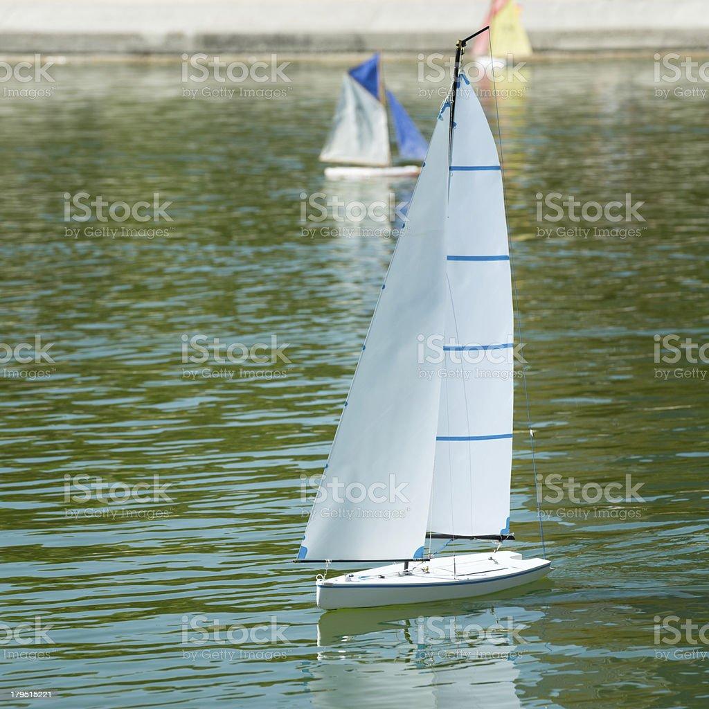 Leisure Activity, RC Sailing royalty-free stock photo