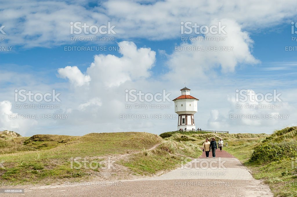 Leisure and water tower on Langeoog, Germany stock photo