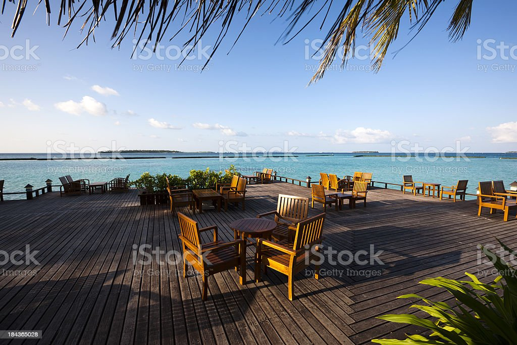 leisure dinning place stock photo