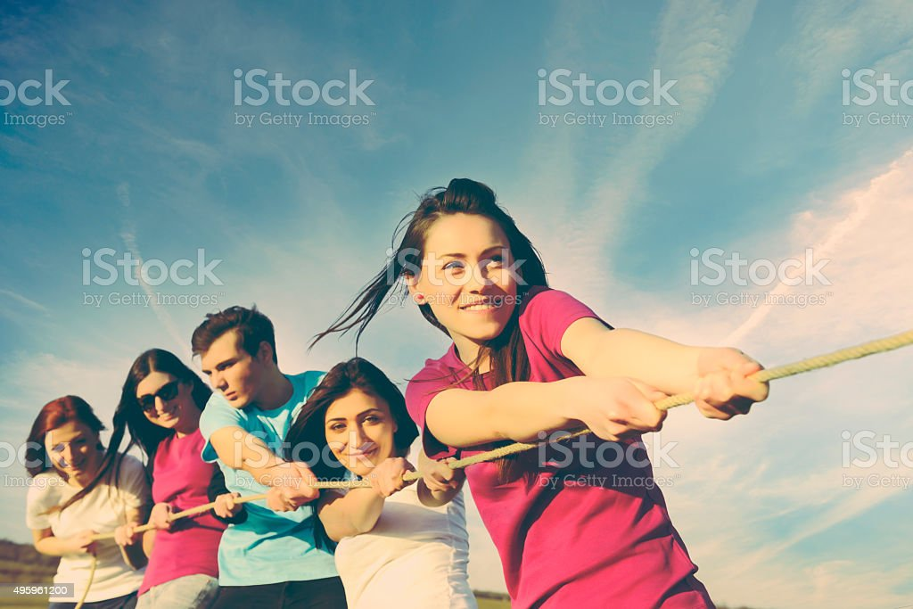 leisure games in summer day stock photo