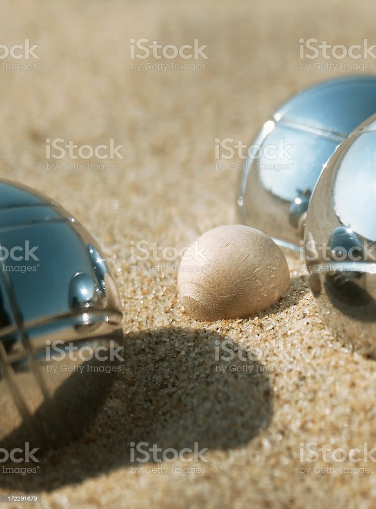 Leisure; Jeux de Boulles royalty-free stock photo