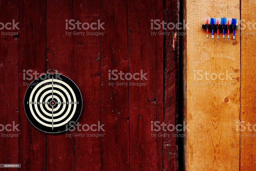 leisure games outdoors: darts stock photo