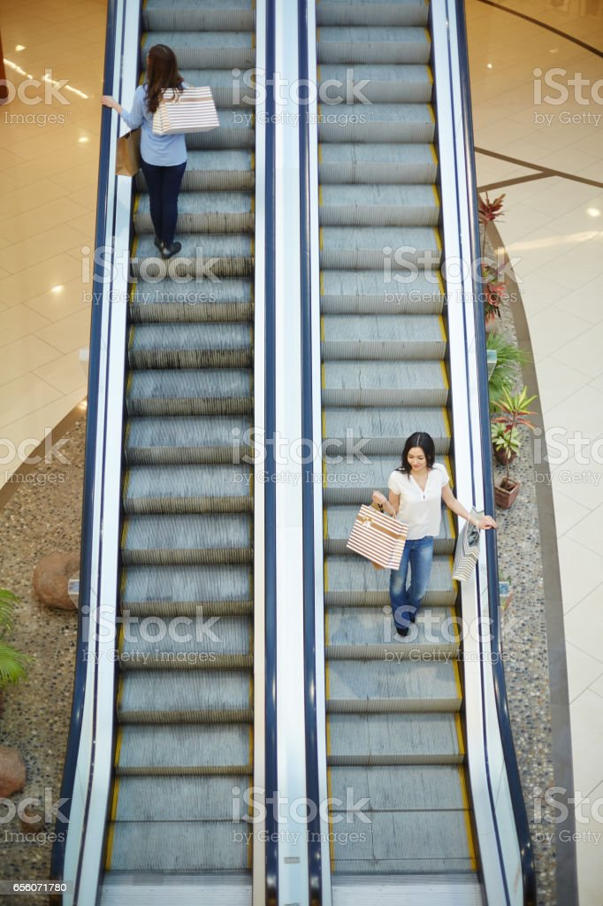Leisure in the mall stock photo