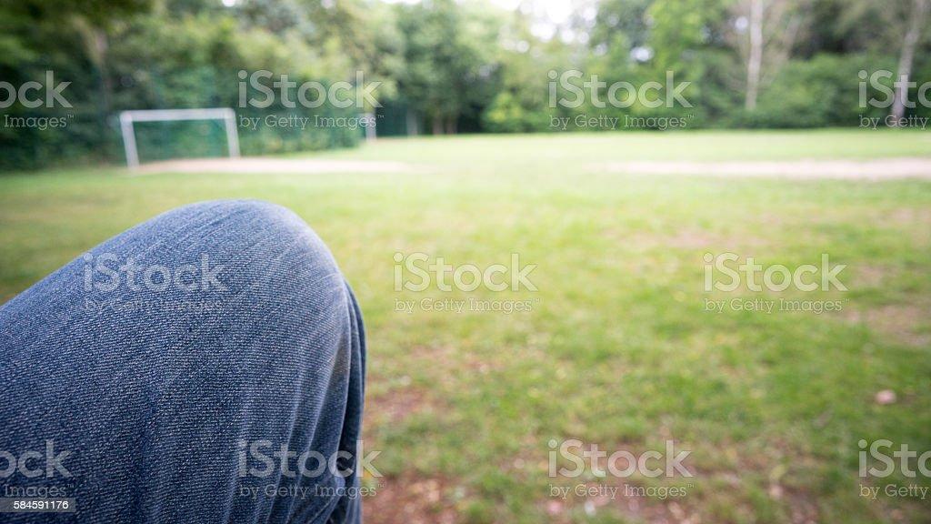 Leisure knee stock photo